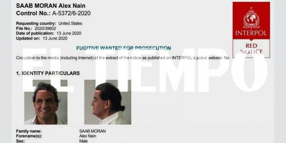 The arrest warrant for Alex Saab by Interpol was issued on June 13, 2020, a day after his arrest in Cape Verde (Photo: El Tiempo)